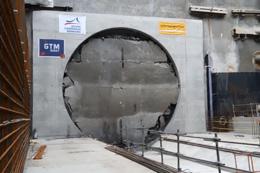 Percement station Mabilais<br/>Prolongement métro de Rennes Ligne B